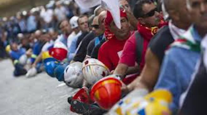 Lavoratori in protesta