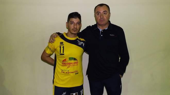 Il capitano Enzo Nicola e coach Vincenzo Urbino