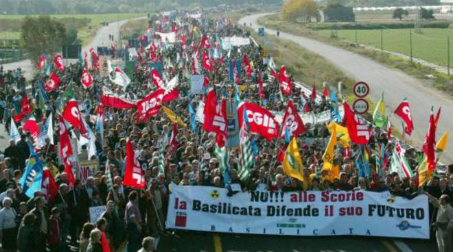 La protesta di Scanzano, novembre 2003