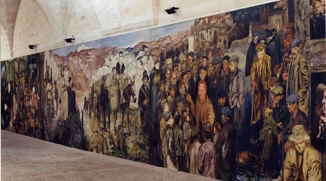 Lucania 61, il dipinto di Carlo Levi