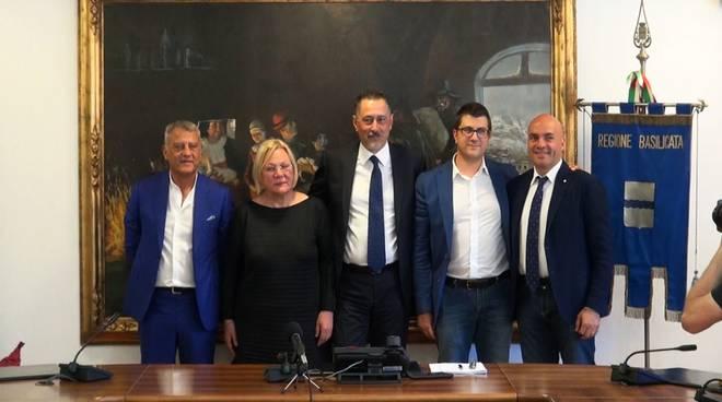 Da sinistra: Benedetto, Franconi, Pittella, Pietrantuono, Braia