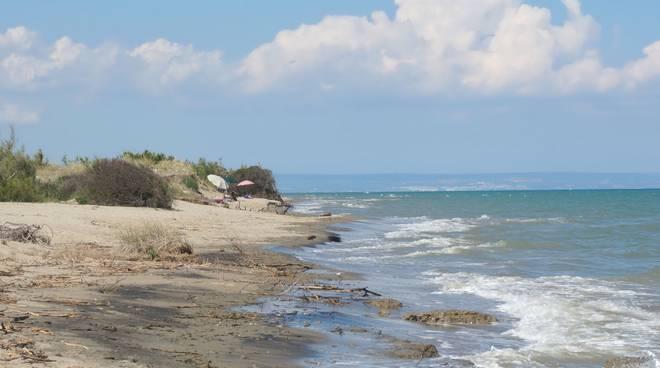 Spiaggia foce Basento Metaponto