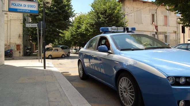 La polizia di Matera