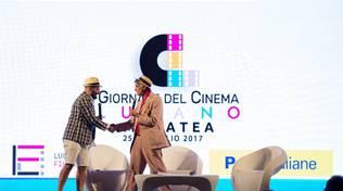Da sinistra, Nicola Timpone e Paride Leporace Lucana Film Commission (Foto pagina Fb Cinemaratea)
