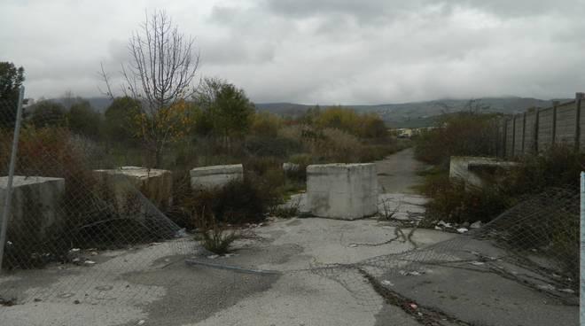 Vasca fosfogessi nell'area ex Liquichimica di Tito Scalo