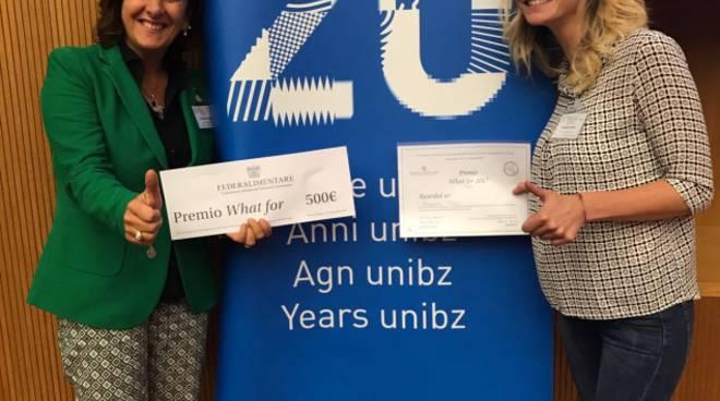 La giovane ricercatrice lucana premiata (a destra) e la professoressa Galgano
