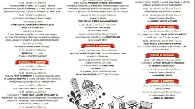 Programma della Settimana Lucana a Firenze
