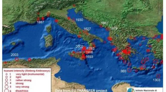L'area del Mediterraneo coinvolta nella simulazione