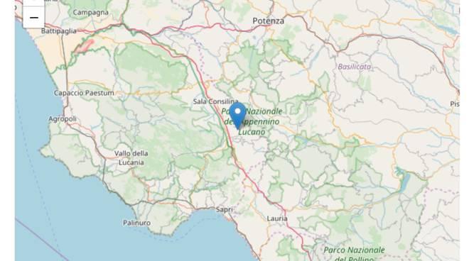 L'area in cui si è verificato il terremoto