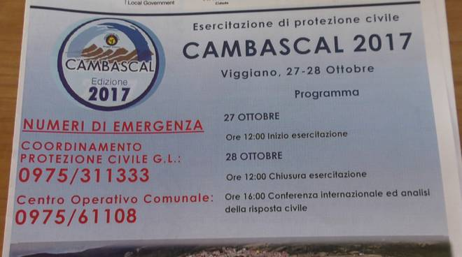 La presentazione dell'esercitazione di Protezione civile