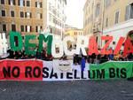 Manifestazione del M5S contro il Rosatellum