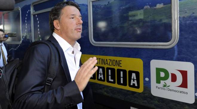 Tour in treno di Renzi