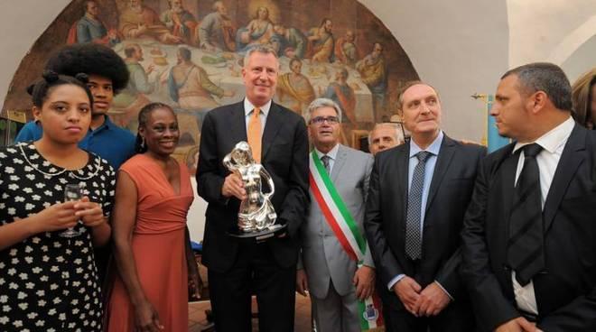 Bill De Blasio a Grassano durante la sua visita nel luglio 2014