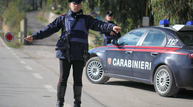 Controllo stradale dei carabinieri