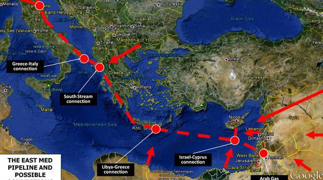 La mappa del gasdotto