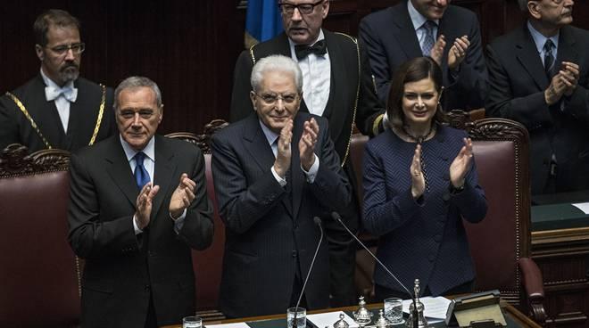 Grasso, Mattarella e Boldrini