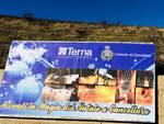 Il cartellone pubblicitario di Terna e Comune di Cancellara