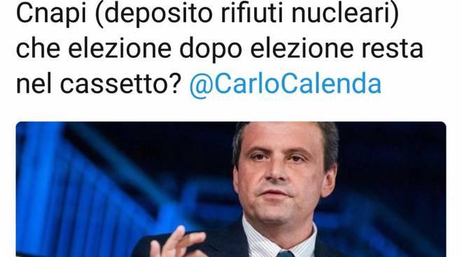 Il tweet del ministro Calenda