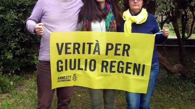 I genitori e la sorella di Giulio Regeni