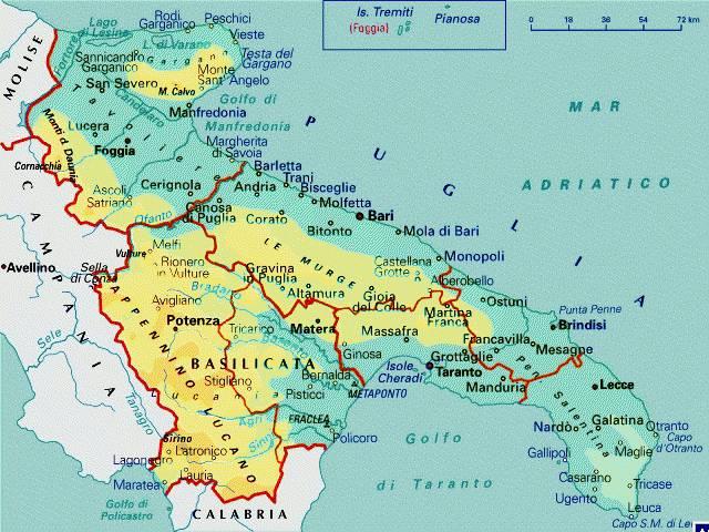 Cartina Politica Puglia Dettagliata.Taranto Da Cenerentola Pugliese A Principessa Lucana Basilicata24