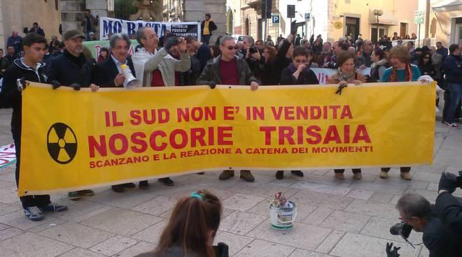 Manifestazione NoScorie Trisaia