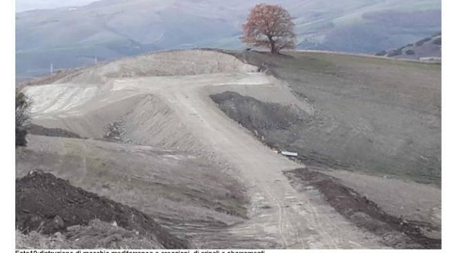 Località Forleto Tolve, lavori per il Parco eolico
