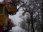Neve sulle tratte ferroviarie
