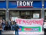 Protesta lavoratori Trony