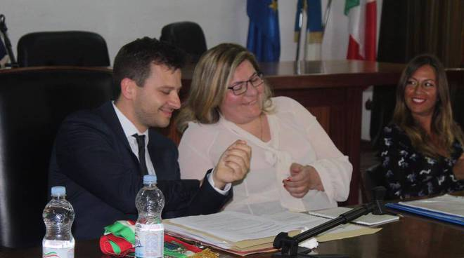 Sindaco Vietri di Potenza con presidente Consiglio comunale e vicepresidente