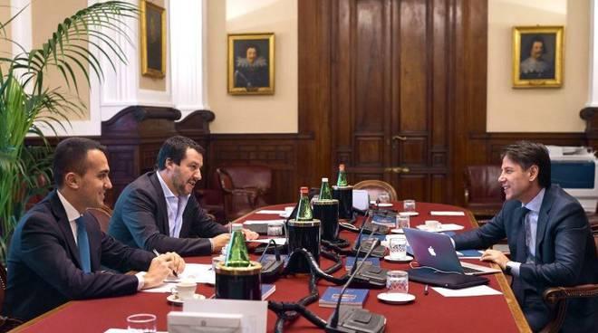 Salvini, Di Maio, Conte