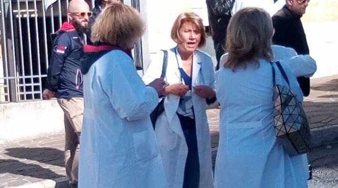 La manifestazione guardie mediche