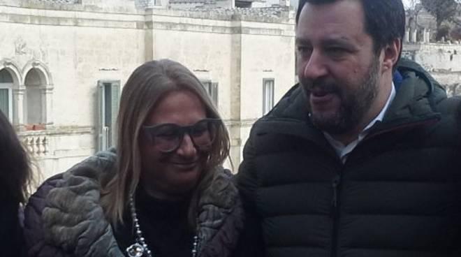 Adriana Domeniconi e Matteo Salvini