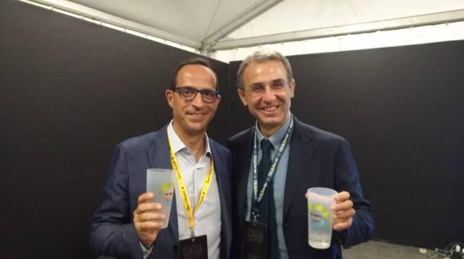 Mattia col ministro Costa