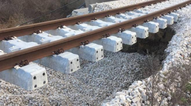 Cedimento tratta ferroviaria