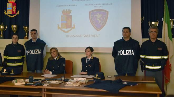 Conferenza stampa Polizia Matera