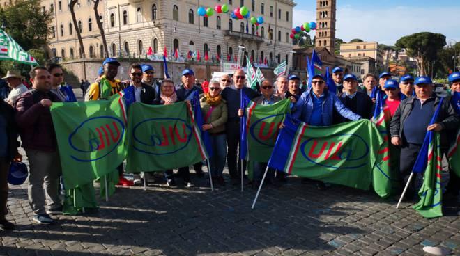 Manifestazione Roma Uil