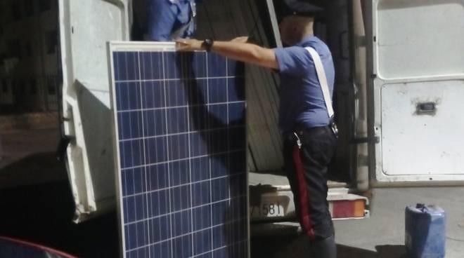 Pannelli solari rubati