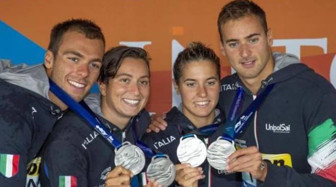 La squadra che ha conquistato la medaglia d'argento