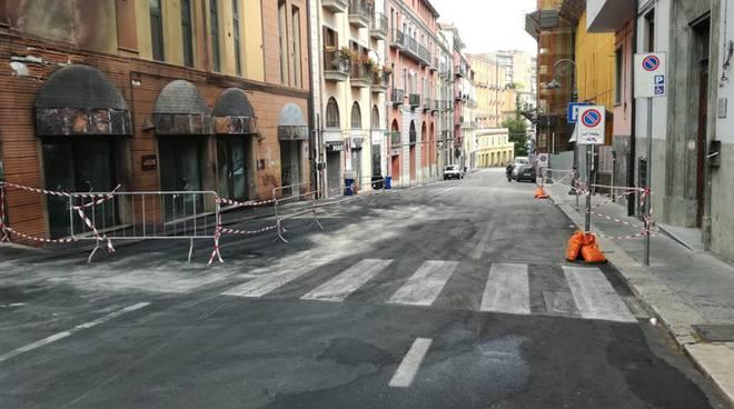 Strada dove è avvenuto incendio