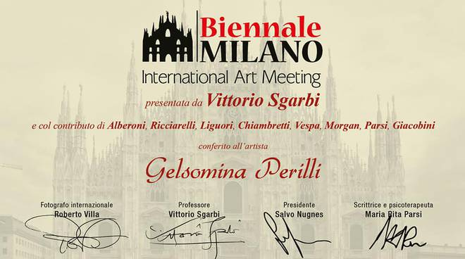 Biennale di Milano, Gelsomina Perilli