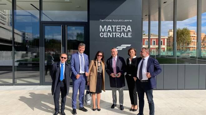 Assessore Merra alla stazione centrale di Matera