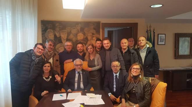 Assessore Leone con rappresentanti sindacali