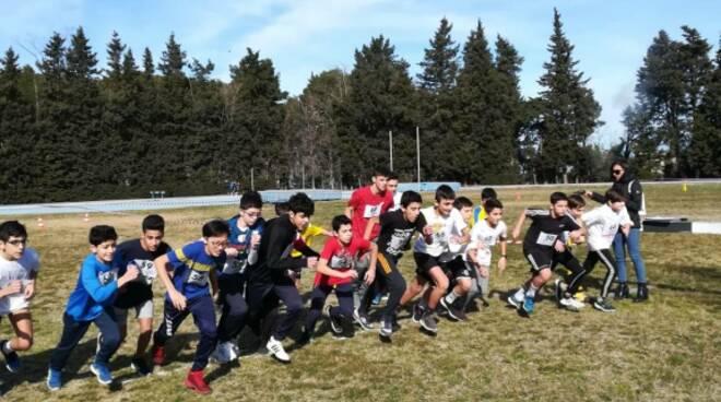 Corsa campestre atleti scuola Torraca, Matera