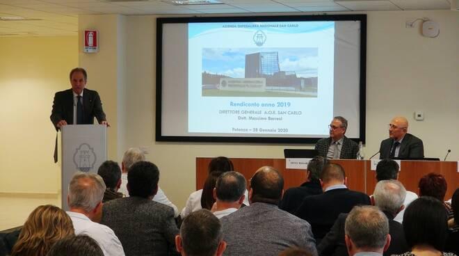 Il presidente Bardi alla presentazione del bilancio Aor San Carlo