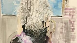 La donna con la chioma bianca