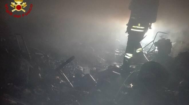 vigili del fuoco incendio a sant'arcangelo