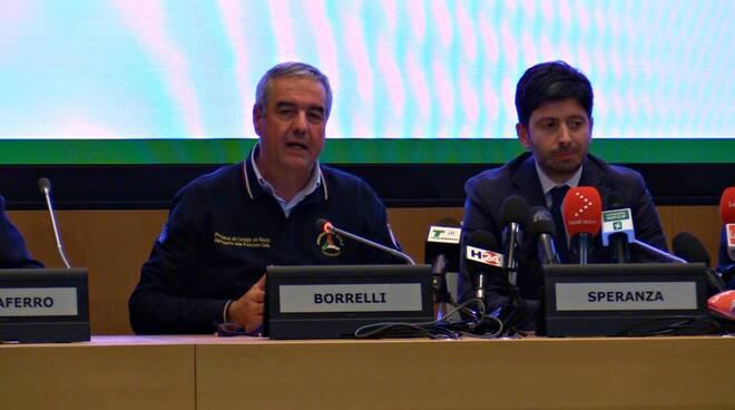 Borrelli, capo Protezione Civile, e Speranza, Ministro Sanità