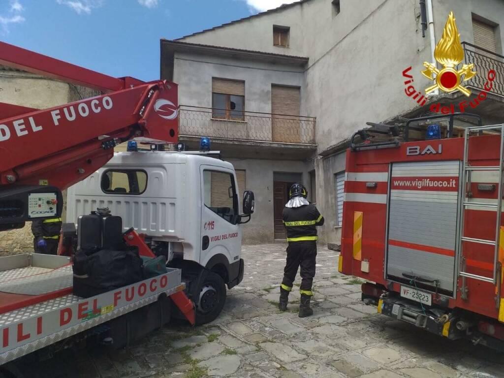 Intervento Vigili del Fuoco a San Costantino Albanese