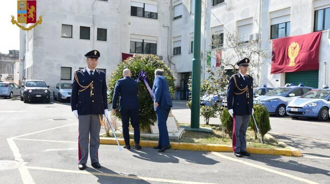 Polizia Matera, celebrazione anniversario (aprile 2020)