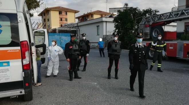 Intervento carabinieri Policoro